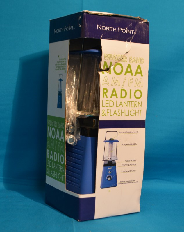 North Point 190511 Weather Band NOAA AM/FM Radio LED Lantern & Flashlight