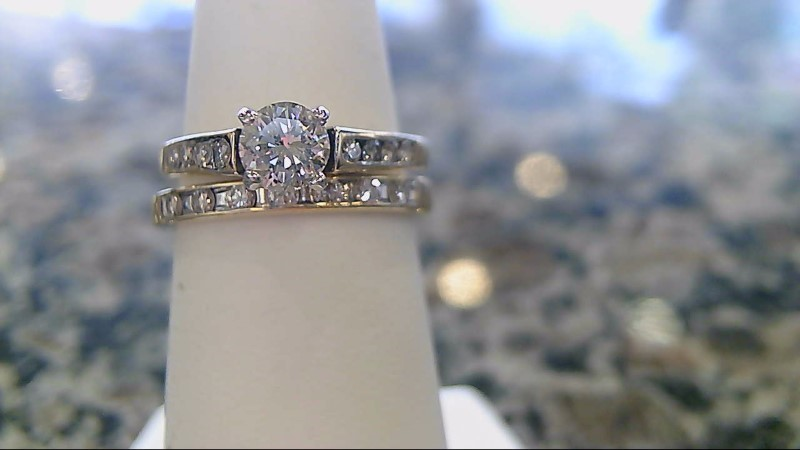 Lady's Diamond Wedding Set 16 Diamonds .65 Carat T.W. 14K Yellow Gold 3.6g