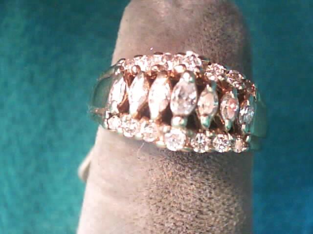 Lady's Diamond Fashion Ring 20 Diamonds .40 Carat T.W. 14K Yellow Gold 2.3dwt