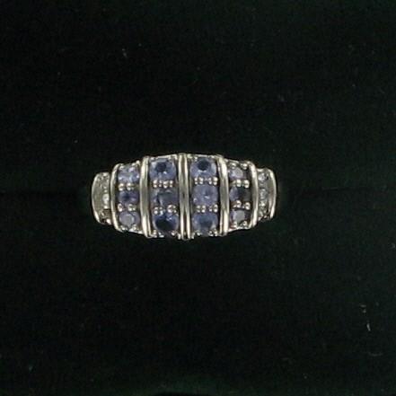 Purple Stone Lady's Stone & Diamond Ring 6 Diamonds .06 Carat T.W.