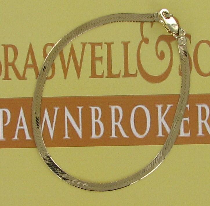 Gold Bracelet 10K Yellow Gold 1.2dwt