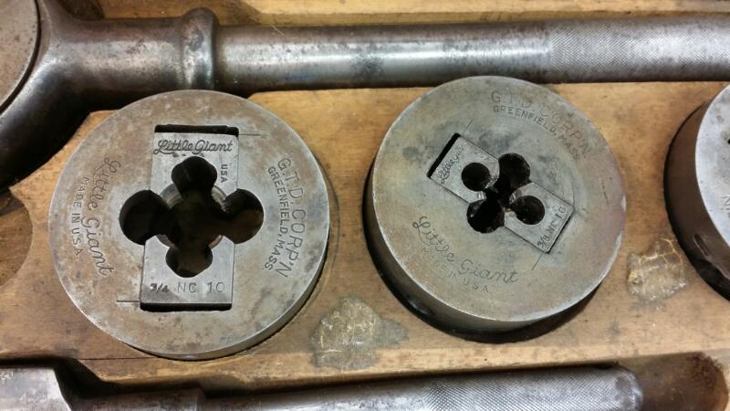 GREENFIELD TAP AND DIE  PIPE THREADER]