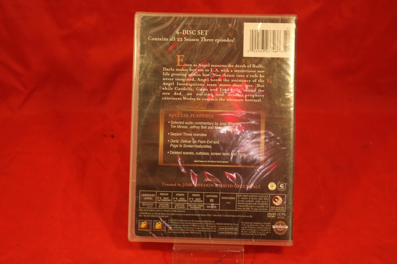Angel - Season 3 (DVD, 2004, 6-Disc Set) SEALED Free Shipping