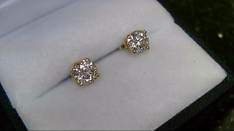 Diamond Stud 1.32 CTTW 14K Yellow Gold Earrings