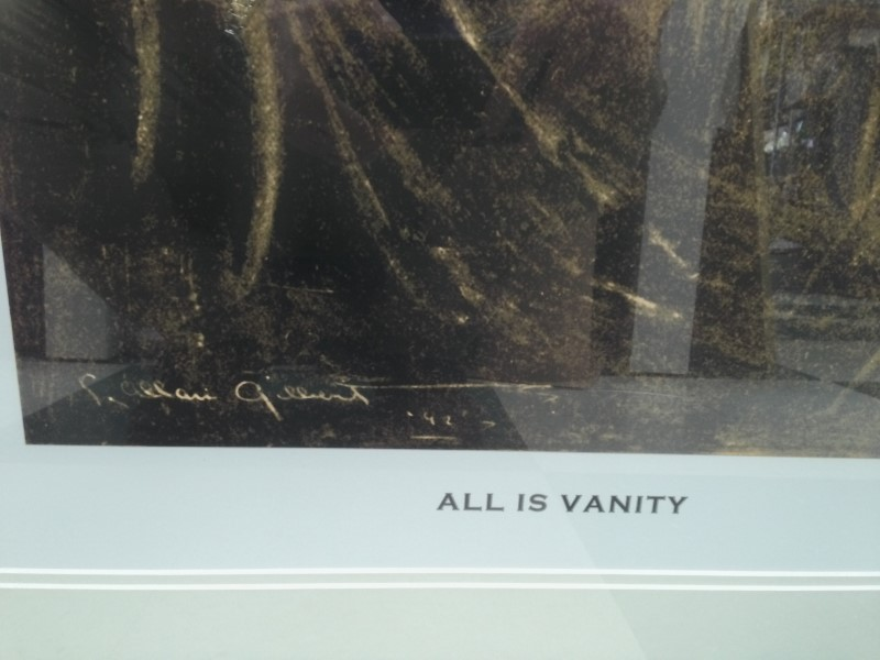 "C ALLAN GILBERT PRINT ""ALL IS VANITY"" FRAMED PRINT"