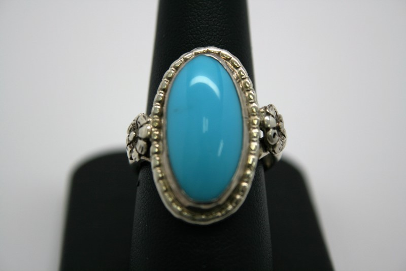 FASHION TURQUOISE SILVER RING 9