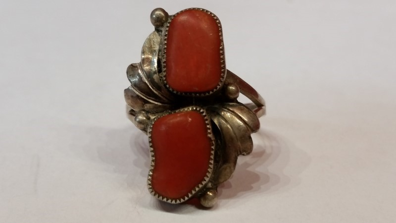Native American Indian Lady's Silver Ring 925 Silver 6.1g Size:10
