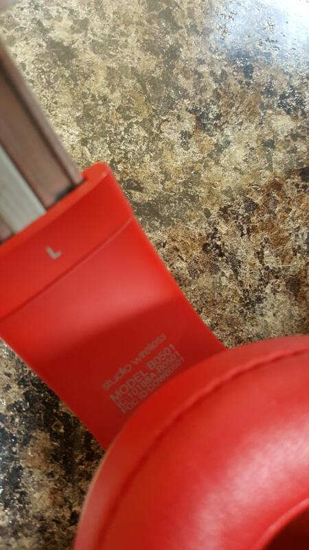 Authentic Beats Studio 2.0 Wireless Headphones - Red (B0501)