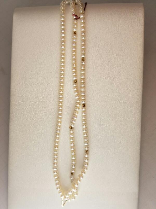 NECKLACE   WMS NECKLACE PEARLS W/GOLD