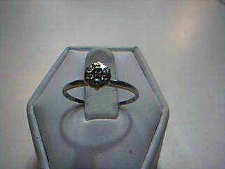 Lady's Diamond Cluster Ring 7 Diamonds .07 Carat T.W. 14K White Gold 1g