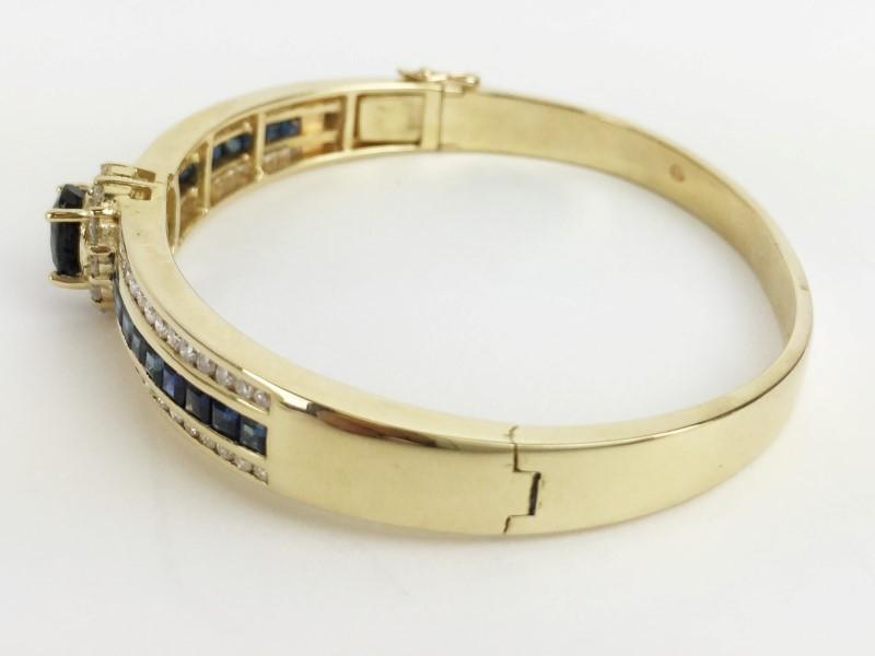 Sapphire & Diamond Bracelet 56 Diamonds 1.68 Carat T.W.