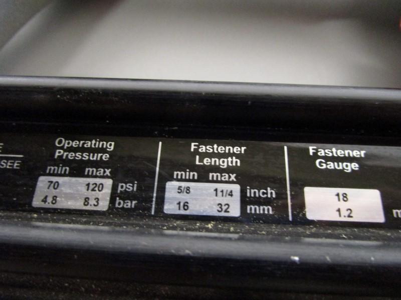 PORTER CABLE BN125A 18 GA. BRAD NAILER