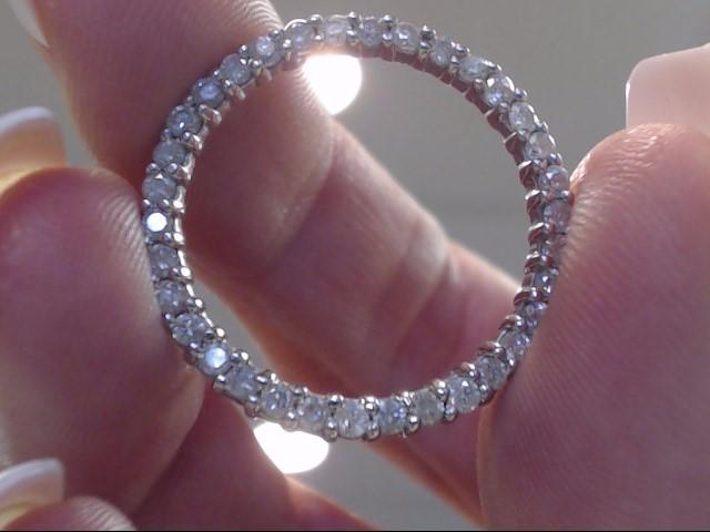 Gold-Multi-Diamond Pendant 35 Diamonds .35 Carat T.W. 10K White Gold 2dwt