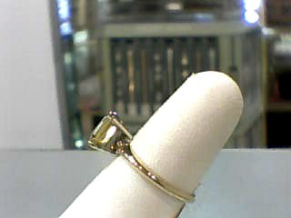 Golden Beryl Lady's Stone Ring 14K Yellow Gold 1.7dwt Size:7