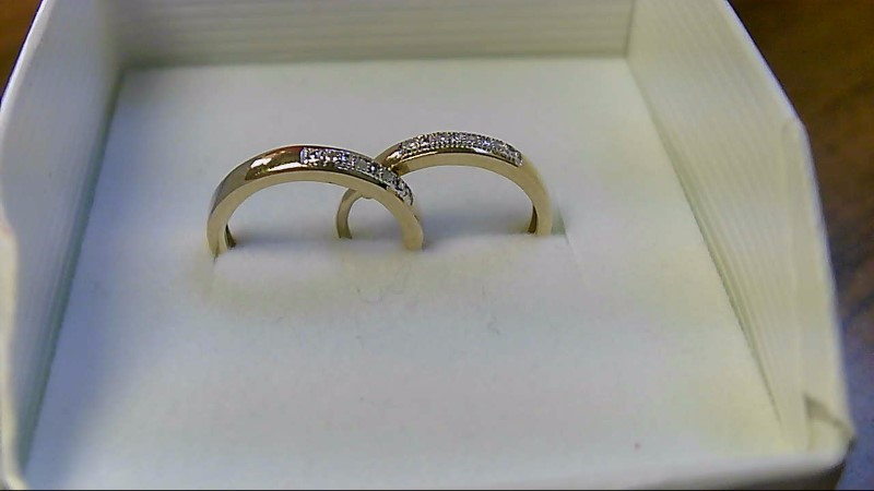 Gold-Diamond Earrings 8 Diamonds .08 Carat T.W. 10K Yellow Gold 2.3g
