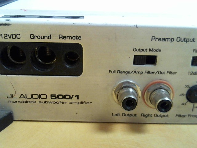 JL AUDIO Car Amplifier 500/1