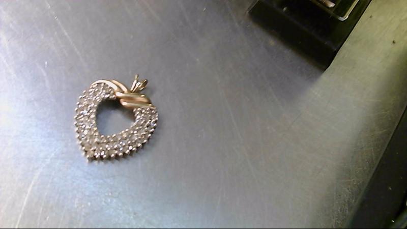 Gold-Multi-Diamond Pendant 70 Diamonds 2.10 Carat T.W. 10K Yellow Gold 6.4g
