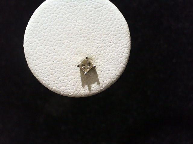 Gold-Diamond Earrings 2 Diamonds .16 Carat T.W. 14K White Gold 0.4g