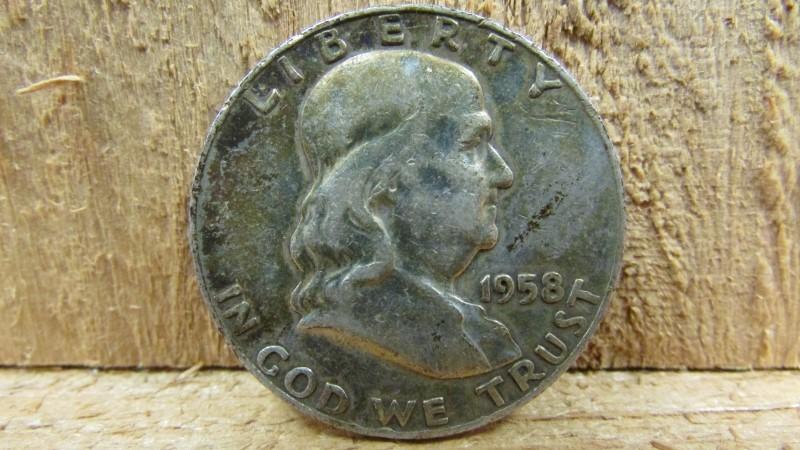 UNITED STATES Silver Coin 1958 FRANKLIN HALF DOLLAR