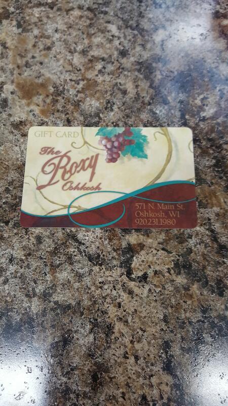 The Roxy (Oshkosh, Wisconsin) Gift Card $50 - Card in Hand, Ready to Ship