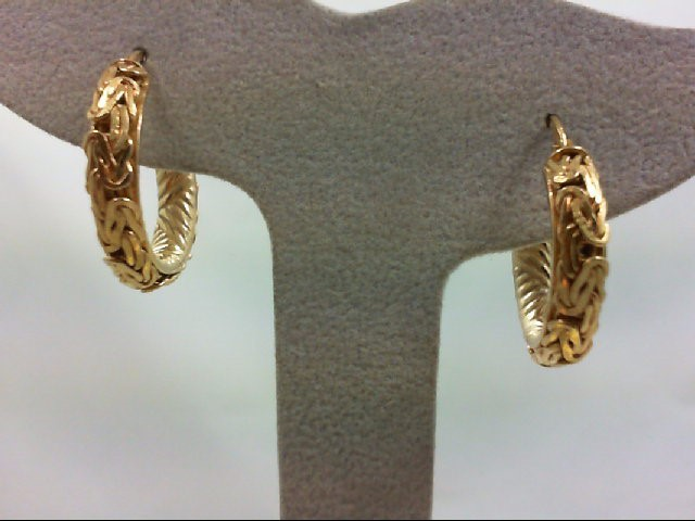 Gold Earrings 14K Yellow Gold 3.9g