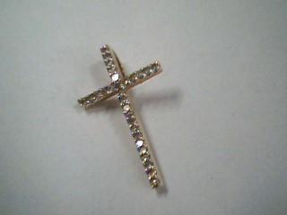 Gold-Multi-Diamond Pendant 29 Diamonds .29 Carat T.W. 14K Yellow Gold 0.6g