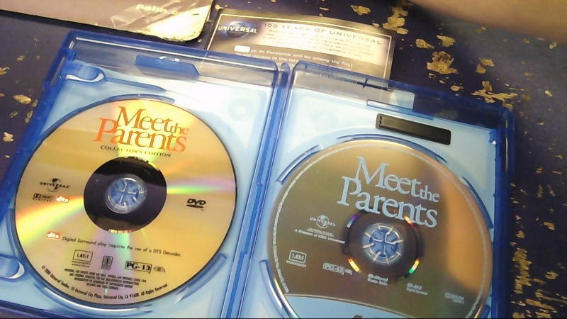 MEET THE PARENTS BLUE RAY + DVD MOVIE