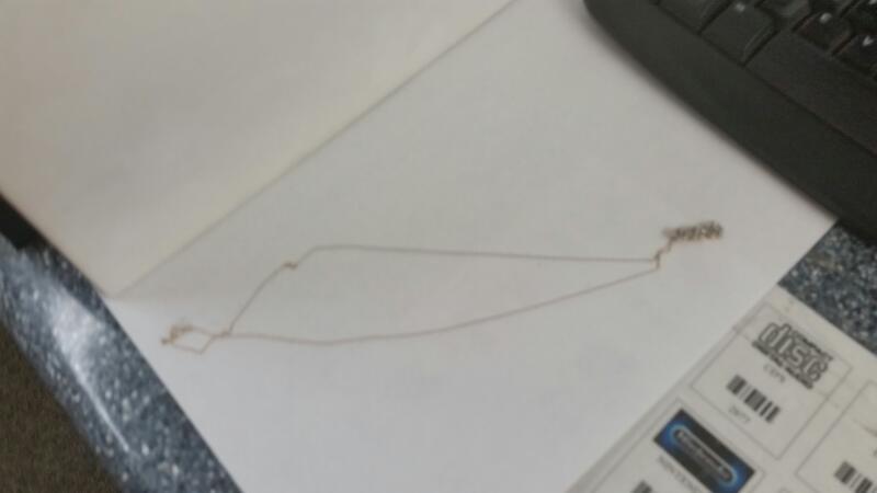 "14K YG Pendant 9-Round Diamonds ON 18"" Small Rope Chain"