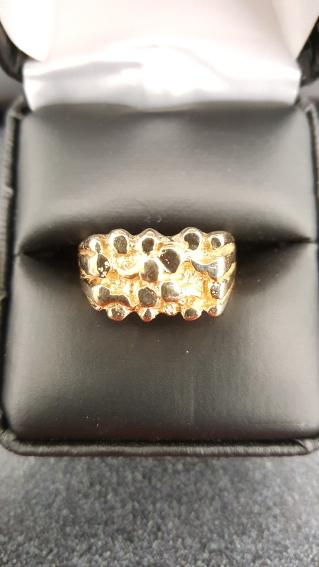 Gent's Gold Ring 10K Yellow Gold 7.2g Size:10