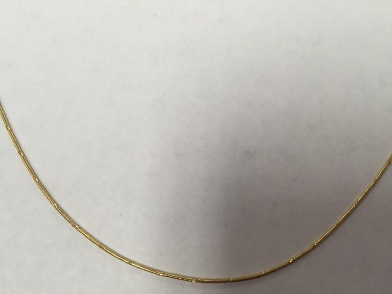 "21"" Gold Snake Chain 14K Yellow Gold 4.1g"
