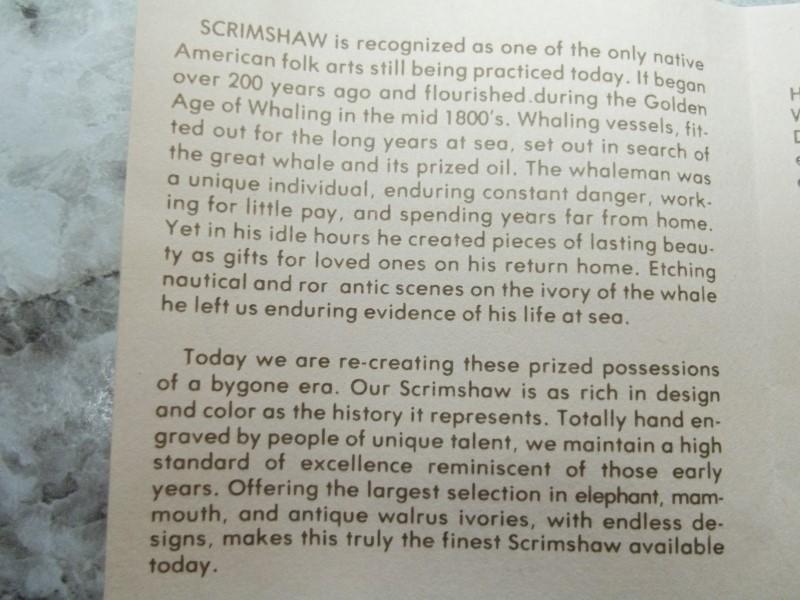 GROUSE PERCH N.E. SCRIMSHAW 3PC SET