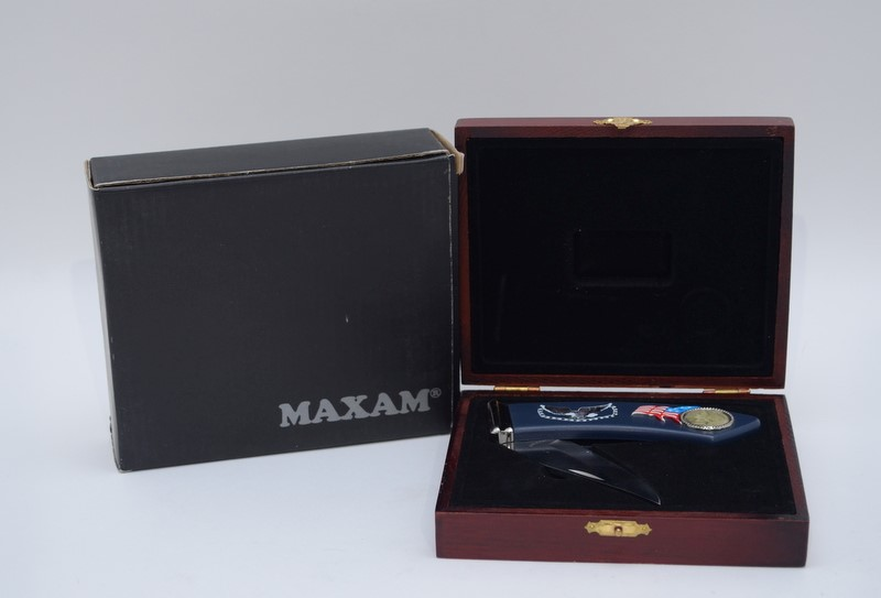 "Maxam Bald Eagle Design Decorative 3"" Folding Knife in Original Box*"