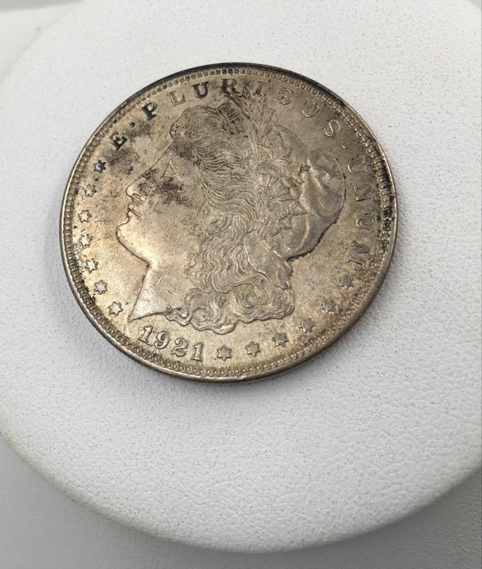1921 Morgan Silver Dollar - United States $1 Coin - Nice Tone