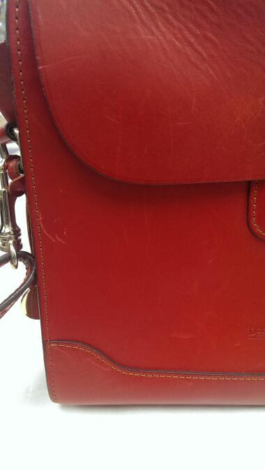 DOONEY & BOURKE RED SATCHEL HANDBAG