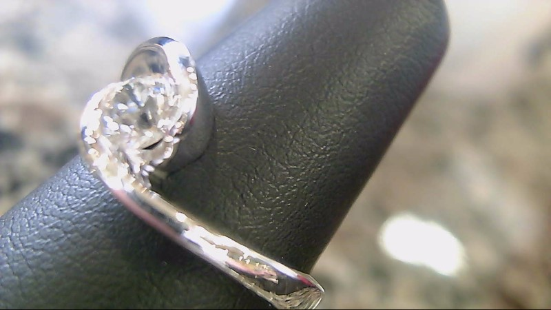Lady's Diamond Solitaire Ring .50 CT. 14K White Gold 5g Size:6.8