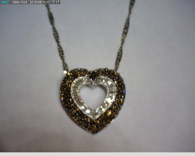 "18"" Diamond Necklace 72 Diamonds .72 Carat T.W. 10K White Gold 2.3dwt"