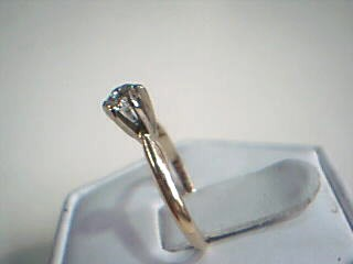 Lady's Diamond Solitaire Ring .25 CT. 14K Yellow Gold 1.6g Size:6