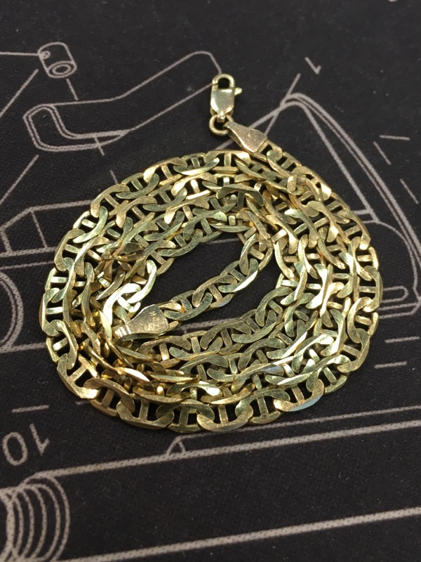 "20"" Gold Chain 10K Yellow Gold 7.6dwt"
