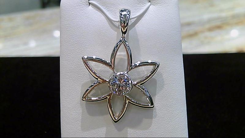 Silver Silpada Flower CZ Pendant 925 Silver 11.2g