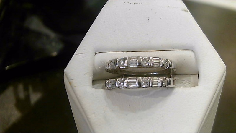 Lady's Diamond Wedding Set 20 Diamonds .20 Carat T.W. 14K White Gold 4g