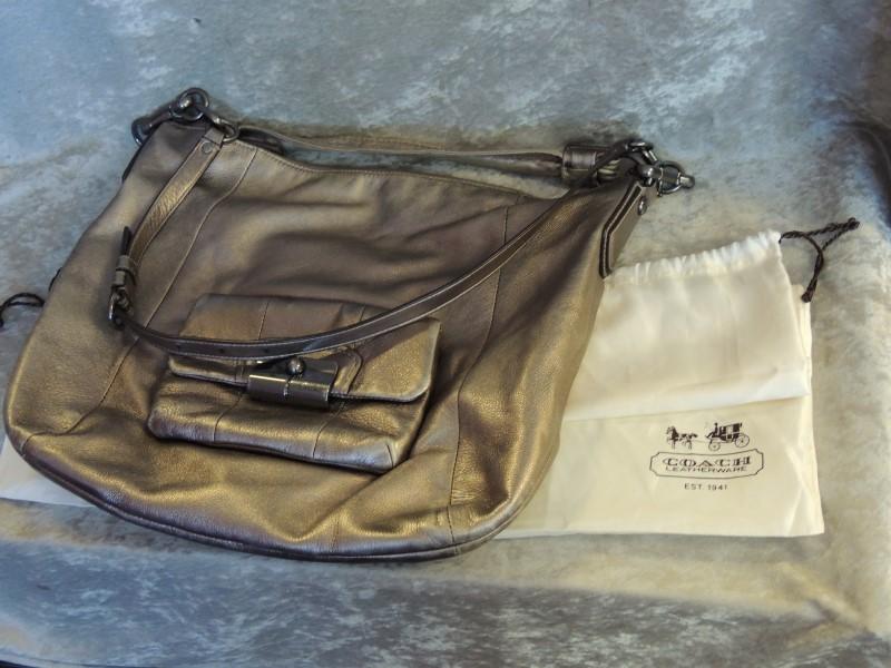 Coach Kristin Large Leather Convertible Shoulder Hobo Handbag 14769