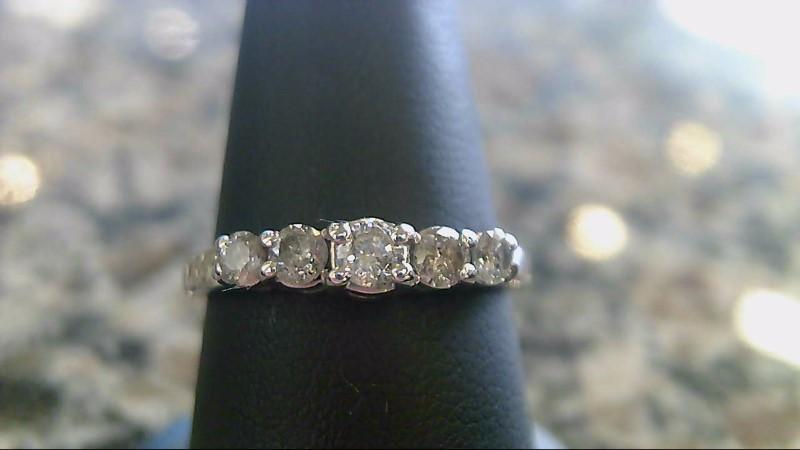 Lady's Diamond Fashion Ring 5 Diamonds .36 Carat T.W. 10K White Gold 2.2g