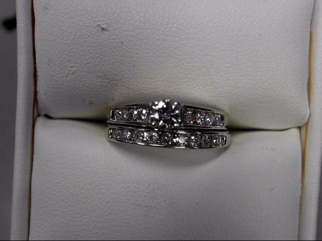 Lady's Diamond Wedding Set 18 Diamonds .53 Carat T.W. 14K White Gold 4.21g