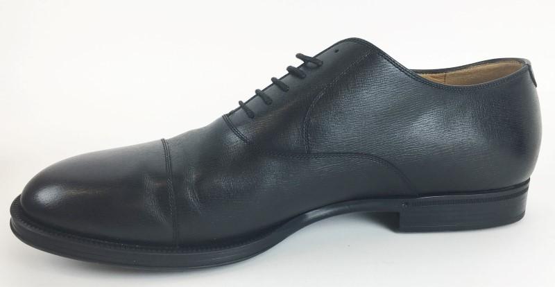 GUCCI Shoes/Boots 322474 BLACK LEATHER LACE UP SHOE SZ 13