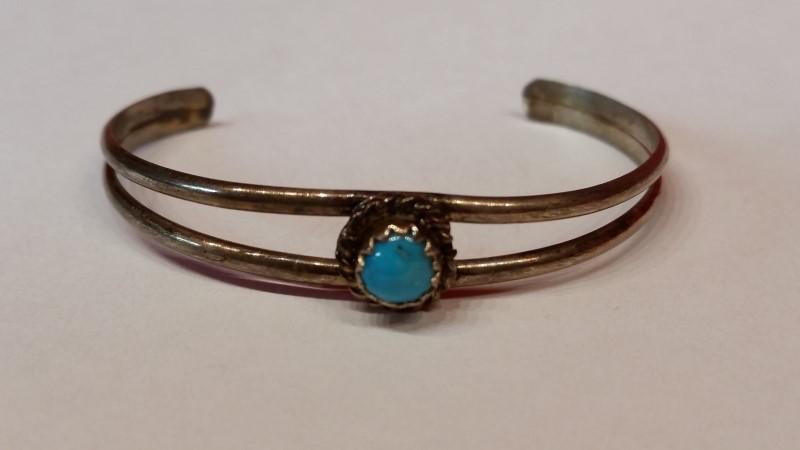 Native American Indian Kids Silver Bracelet 925 Silver 2.9g