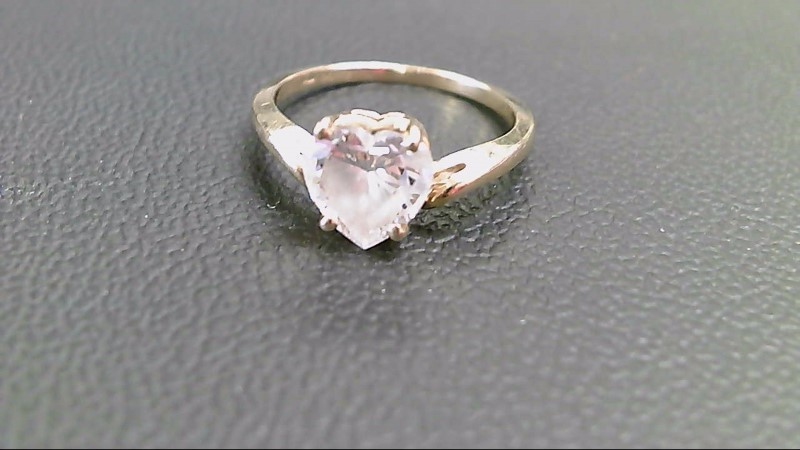 Synthetic Cubic Zirconia Lady's Stone Ring 14K Yellow Gold 2.7g