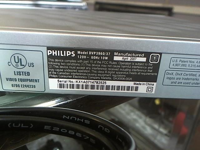 PHILIPS DVD Player DVP396037