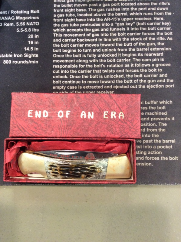 "FROST CUTLERY Pocket Knife PAUL ""BEAR"" BRYANT ""END OF AN ERA"" KNIFE"