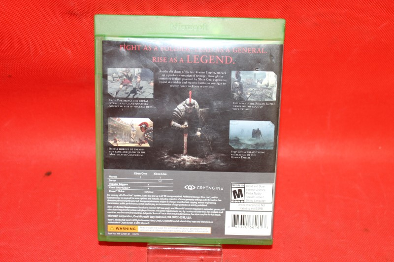 Ryse: Son of Rome (Microsoft Xbox One, 2013) - COMPLETE