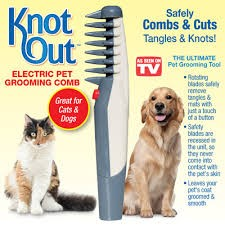 KNOT OUT ELECTRIC PET GROOMER GROOMING COMB